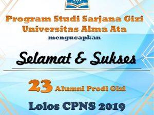 23 Alumni Program Studi S1 Gizi Universitas Alma Ata Lolos CPNS