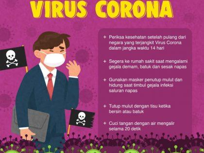Langkah preventif dan cara pencegahan virus corona