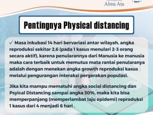 PENTINGNYA PHYSICAL DISTANCING