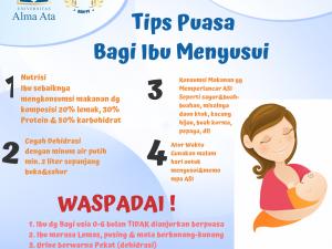 Tips Sehat Berpuasa bagi Ibu Menyusui