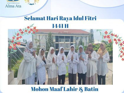 """Segenap Keluarga Kebidanan Mengucapkan """"Selamat Hari Raya Idul Fitri 1441 H"""""""