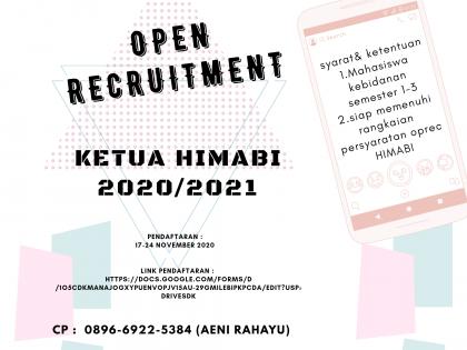 Open Recruitmen Ketua HIMABI 2020/2021