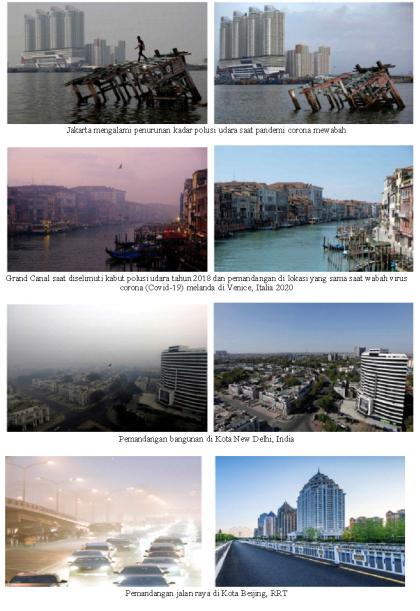 Dulu dan Sekarang: Pandemi membersihkan udara