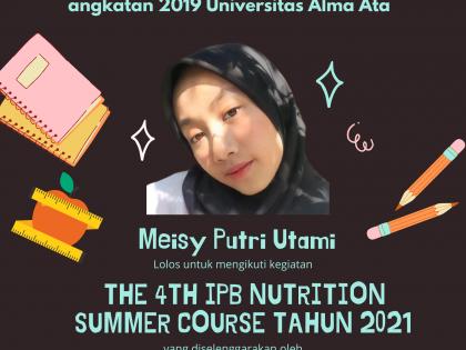 Mahasiswa Gizi UAA Turut Berpartisipasi dalam The 4th IPB Nutrition Summer Course Tahun 2021 (4th INSC)