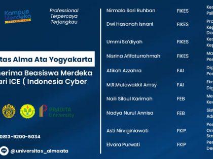 AKTIF IKUTI MBKM, 10 MAHASISWA UAA TERPILIH SEBAGAI PENERIMA BEASISWA MERDEKA BELAJAR UNTUK SEMUA DI INDONESIA CYBER EDUCATION (ICE) INSTITUTE